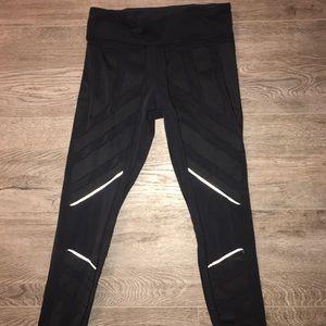 Lululemon semi cropped reflective leggings